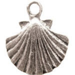 Clam 15x14mm 1-Sided - Pkg of 10 Quest Beads & Cast™ Antique Pewter