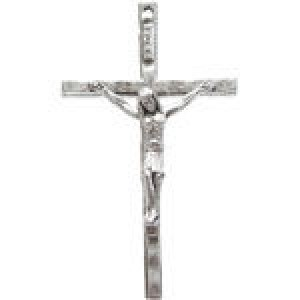 Crucifix 49x29mm 1-Sided - Pkg of 5 Quest Beads & Cast™ Antique Pewter