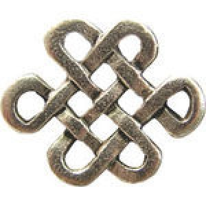 Chinese Knot Connector 14x17.5mm - Pkg of 10 Quest Beads & Cast™ Antique Pewter