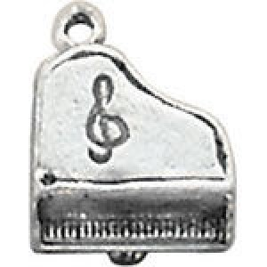 Piano 17x15mm 3d - Pkg of 5 Quest Beads & Cast™ Antique Pewter
