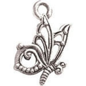 Butterfly 19x12mm 2-Sided - Pkg of 10 Quest Beads & Cast™ Antique Pewter