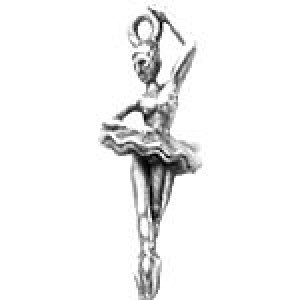 Ballerina 29x12mm 3d - Pkg of 10 Quest Beads & Cast™ Antique Pewter