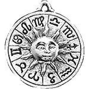 Celestial Zodiac 24x21mm 2-Sided - Pkg of 5 Quest Beads & Cast™ Antique Pewter