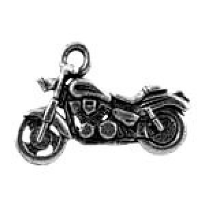 Motorcycle 22x15mm - Pkg of 5 Quest Beads & Cast™ Antique Pewter