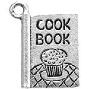 Cook Book 19x15mm 1-Sided - Pkg of 5 Quest Beads & Cast™ Antique Pewter