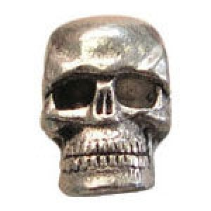 Skull Bead 10x7mm (3.5mm Vertical Hole) - Pkg of 10 Quest Beads & Cast™ Antique Pewter
