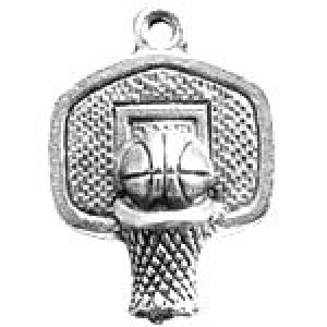 Basketball Hoop 21x16mm 1-Sided - Pkg of 10 Quest Beads & Cast™ Antique Pewter