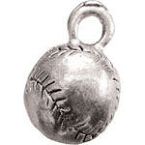 Baseball 15x10mm 3d - Pkg of 5 Quest Beads & Cast™ Antique Pewter