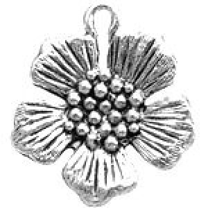 Flower 19x17mm 1-Sided - Pkg of 10 Quest Beads & Cast™ Antique Pewter