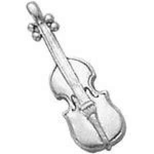 Violin 26x8mm 1-Sided - Pkg of 10 Quest Beads & Cast™ Antique Pewter