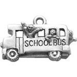 School Bus 15x22mm 1-Sided - Pkg of 5 Quest Beads & Cast™ Antique Pewter