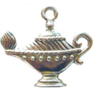 Genie's Magic Lamp 20x21mm 2-Sided - Pkg of 5 Quest Beads & Cast™ Antique Pewter