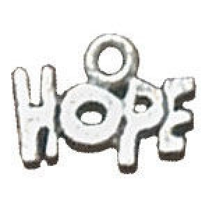 Hope 10x12mm 1-Sided - Pkg of 20 Quest Beads & Cast™ Antique Pewter