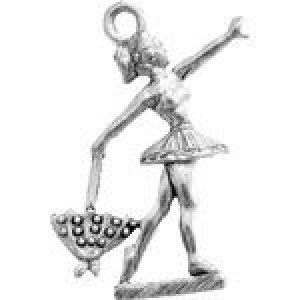 Tight Rope Walker 28x18mm 2-Sided - Pkg of 10 Quest Beads & Cast™ Antique Pewter
