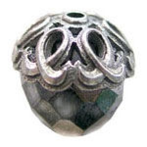 Gothic Loop Bead Cap 5x10mm Fits 9-10mm Beads - Pkg of 10 Quest Beads & Cast™ Antique Pewter