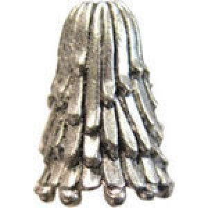 Drip Textured Bead Cap 15.5x7mm Fits 8-10mm Beads - Pkg of 5 Quest Beads & Cast™ Antique Pewter