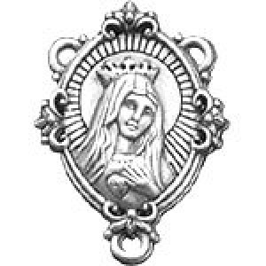 Rosary Connector 29x20mm 1-Sided - Pkg of 5 Quest Beads & Cast™ Antique Pewter