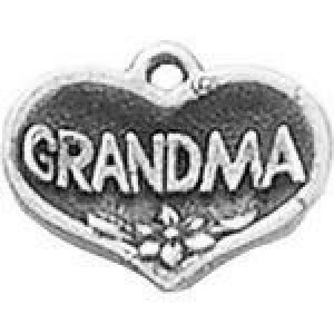 Grandma Heart 15x19mm 2-Sided - Pkg of 5 Quest Beads & Cast™ Antique Pewter