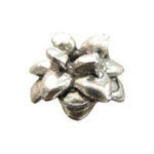 Pineapple Top Bead Cap 5x5.5mm Fits 5-8mm Beads - Pkg of 20 Quest Beads & Cast™ Antique Pewter