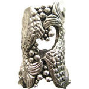 Lg Open Fish Tube Bead 10.5x 19.5mm (6.5mm Hole) - Pkg of 5 Quest Beads & Cast™ Antique Pewter