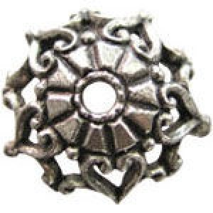 Filigree Edged Bead Cap 10mm Fits 12-14mm Beads - Pkg of 20 Quest Beads & Cast™ Antique Pewter