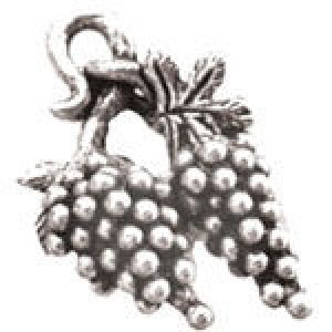 Grapes 21x15mm 3d - Pkg of 5 Quest Beads & Cast™ Antique Pewter