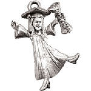 Girl At Graduation 16x25mm - Pkg of 5 Quest Beads & Cast™ Antique Pewter