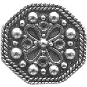 Octagon Shaped Watch Bead 14.5x13mm - Pkg of 10 Quest Beads & Cast™ Antique Pewter