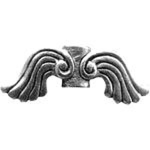 Angel Wing Bead 19x5.5x3.5mm - Pkg of 10 Quest Beads & Cast™ Antique Pewter