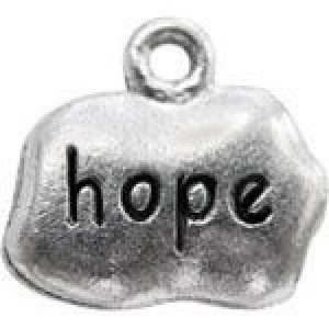 Hope Tag 11x14mm 1-Sided - Pkg of 10 Quest Beads & Cast™ Antique Pewter