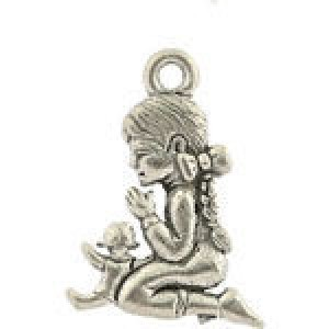 Praying Girl 13x19mm - Pkg of 10 Quest Beads & Cast™ Antique Pewter
