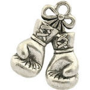 Pair of Boxing Gloves 14x18mm - Pkg of 5 Quest Beads & Cast™ Antique Pewter