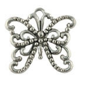 Large Butterfly 19x21mm - Pkg of 5 Quest Beads & Cast™ Antique Pewter