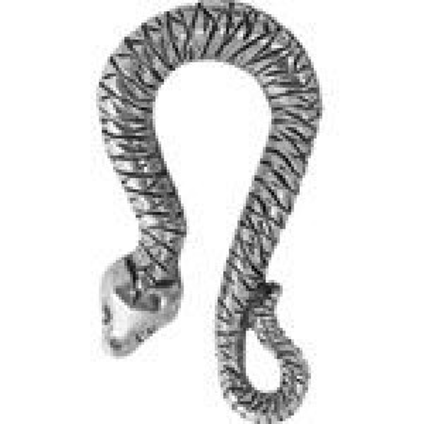 Snake Hook (Open Side) 13x24mm - Pkg of 5 Quest Beads & Cast™ Antique Pewter