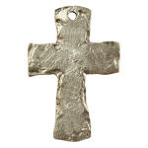 Ancient Cross (W/Hole At Top) 34x56mm - Pkg of 5 Quest Beads & Cast™ Antique Pewter