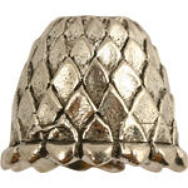 Lg Bead Cap W/Scallop Pattern 14x11mm - Pkg of 5 Quest Beads & Cast™ Antique Pewter