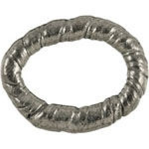 Ring Connector 15x18mm - Pkg of 10 Quest Beads & Cast® Antique Pewter