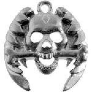 Skull Head W/Wings 23x24mm - Pkg of 5 Quest Beads & Cast® Antique Pewter