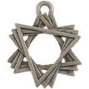 Star of David 18mm - Pkg of 10 Quest Beads & Cast® Antique Pewter