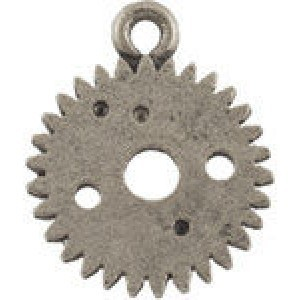 Gear/Watch Part Charm 10mm - Pkg of 10 Quest Beads & Cast® Antique Pewter