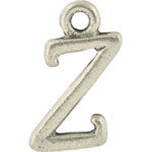 Z Hanging Letter Charm 8x14mm - Pkg of 10 Quest Beads & Cast™ Antique Pewter