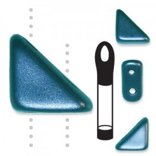 Tango™ Bead 2-Hole 6mm Pastel Petrol - 12 Gram Vial (Apx 75 Pcs)