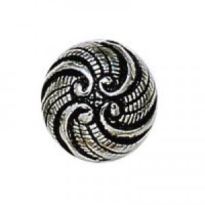12mm Victorian Swirl Bead Antique Silver