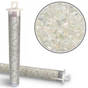 2.5x5mm Preciosa® Twin Bead Crystal Iris - Apx 24 Gram Vial (Apx 450 Pcs)