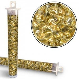 2.5x5mm Preciosa® Twin Bead Gold Lined - Apx 24 Gram Vial (Apx 450 Pcs)