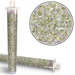 2.5x5mm Preciosa® Twin Bead Crystal Silver Lined - Apx 24 Gram Vial (Apx 450 Pcs)