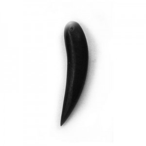 36mm Black Horn Shaped Philippine Wood Component 25pcs