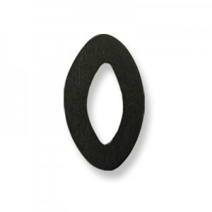30x48mm Black Oval W/ Center Hole Philippine Wood Component 12pcs
