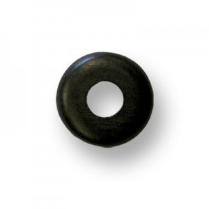 37mm Black Donut Shaped Philippine Wood Component 12pcs