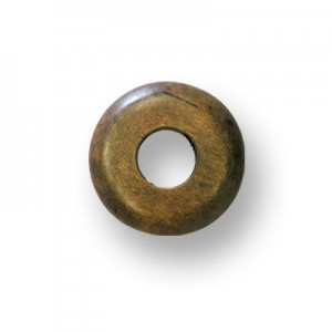 37mm Brown Donut Shaped Philippine Wood Component 12pcs